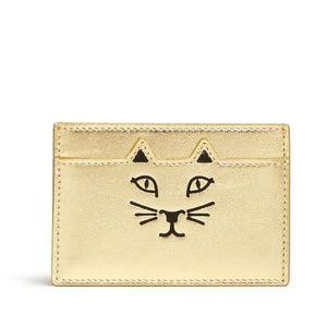 Charlotte Olympia Feline Cat Face Card Holder